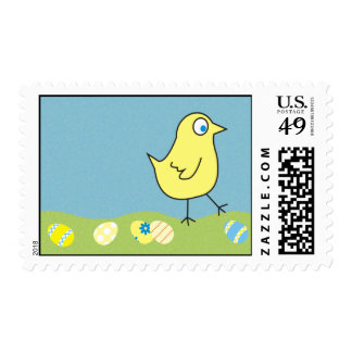 Cute Little Chick Easter Postage Stamps