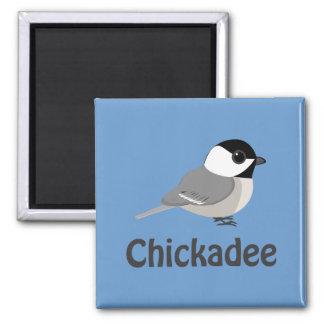 Cute little Chickadee 2 Inch Square Magnet