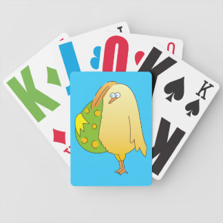 Cute Little Chicken with Egg Playing Cards