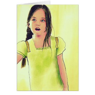 Cute Little Child Girl Card