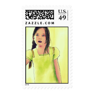 Cute Little Child Girl Postage