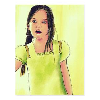 Cute Little Child Girl Postcard