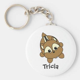 Cute Little Chipmunk Critter Basic Round Button Keychain