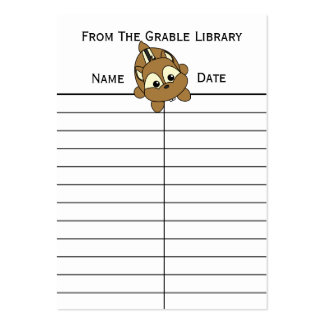 Cute Little Chipmunk Critter Business Cards