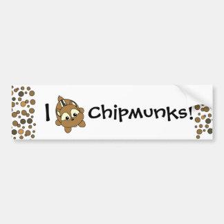 Cute Little Chipmunk Critter Car Bumper Sticker