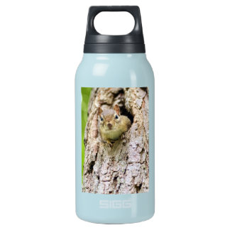 Cute Little Chipmunk in a Tree Insulated Water Bottle
