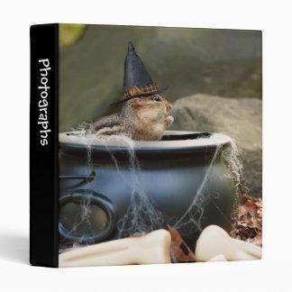 """Cute Little Chipmunk Witch 1"""" Photo Album 3 Ring Binder"""