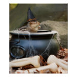 Cute Little Chipmunk Witch Poster