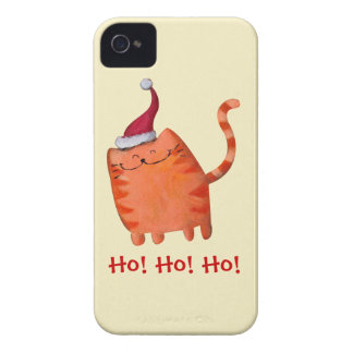 Cute Little Christmas Cat iPhone 4 Cases