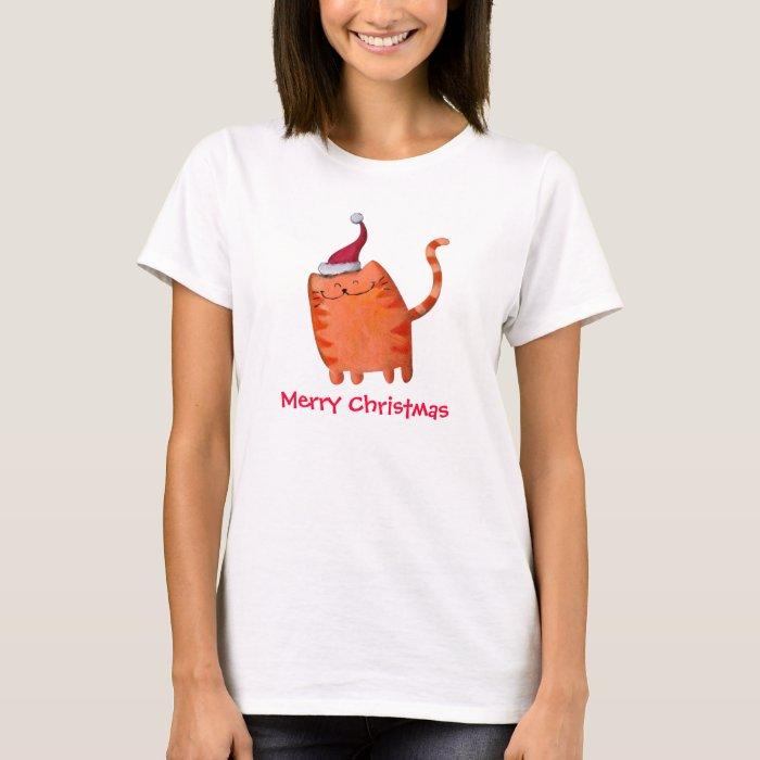 Cute Little Christmas Cat T-Shirt
