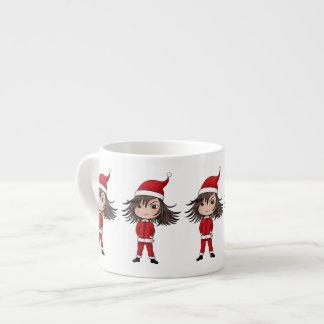 Cute little Christmas elf chibi Espresso Cup