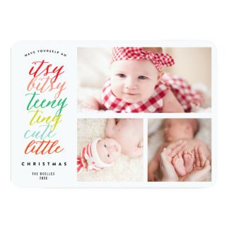 Cute Little Christmas Holiday Photo Collage Card