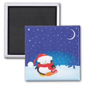 Cute little Christmas penguin Magnets