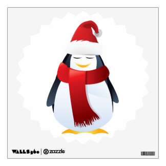 Cute Little Christmas Penguin Room Stickers