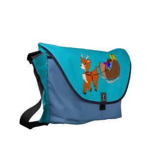 Cute Little Christmas Reindeer  Messenger Bag