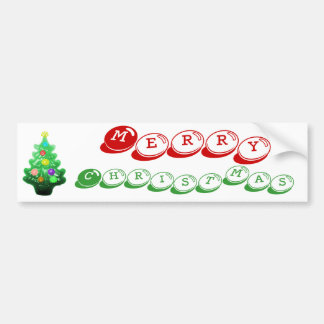 Cute Little Christmas Tree Bumper Sticker