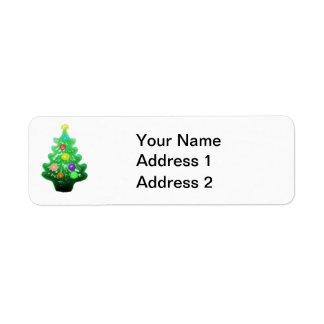 Cute Little Christmas Tree Return Address Label