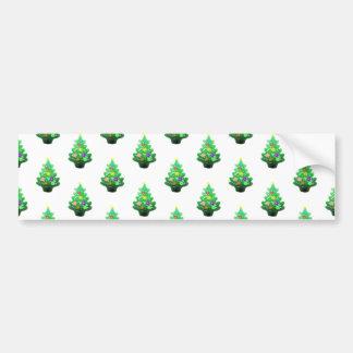 Cute Little Christmas Tree Pattern Bumper Sticker