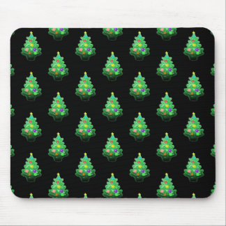 Cute Little Christmas Tree Pattern Mouse Pad