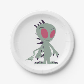 Cute little Chupacabra Paper Plate