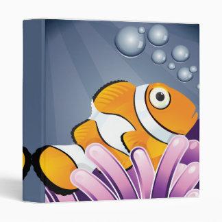 cute little clownfish notebook binder
