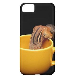 Cute Little Coffee Loving Chipmunk iPhone 5C Cases