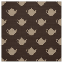 cute little colored teapots pattern fabric