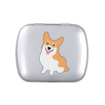 Cute Little Corgi Jelly Belly Candy Tins