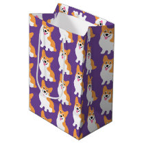 Cute Little Corgi Pattern Medium Gift Bag