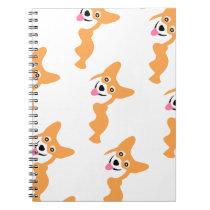 Cute Little Corgi Pattern Spiral Notebook