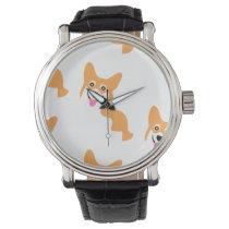 Cute Little Corgi Pattern Watch