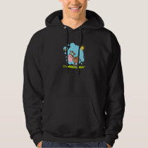 cute little cow and bumble bee in the sun hoodie