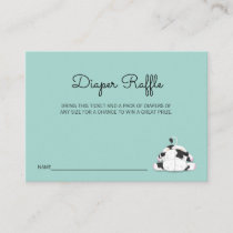 Cute Little Cow Baby Shower Diaper Raffle Ticket Enclosure Card