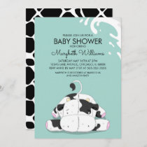 Cute Little Cow Baby Shower Party Invitation Card