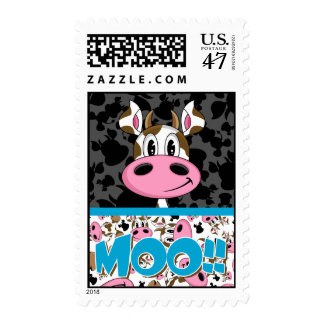 Cute Little Cow Postage Stamp