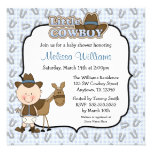 Cute Little Cowboy Baby Shower Invitations Custom Invite