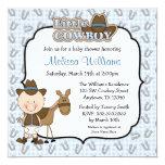 Cute Little Cowboy Baby Shower Invitations Custom Invite