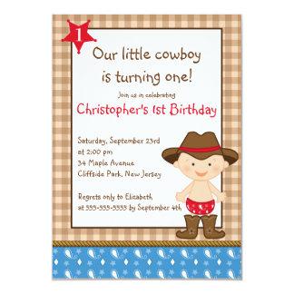 Cute Little Cowboy Birthday Party Invitations