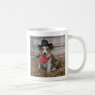 Cute Little Cowboy Puppy Coffee Mug