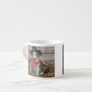 Cute Little Cowboy Puppy Espresso Cup