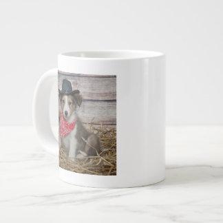 Cute Little Cowboy Puppy Large Coffee Mug