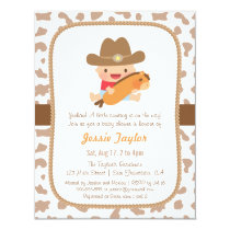 Cute Little Cowboy Western Baby Shower Invitations