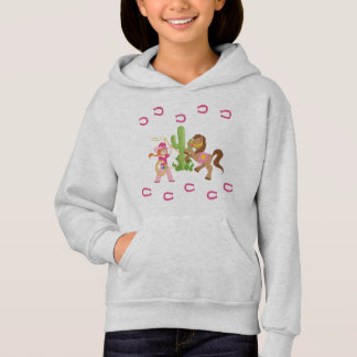 Cute Little Cowgirl and Pony Hoodie