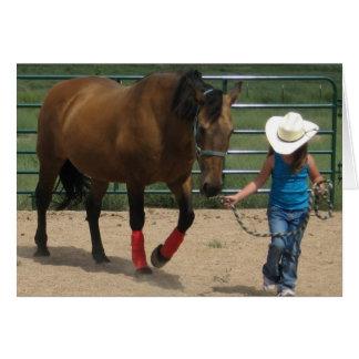 Cute Little Cowgirl Birthday Card