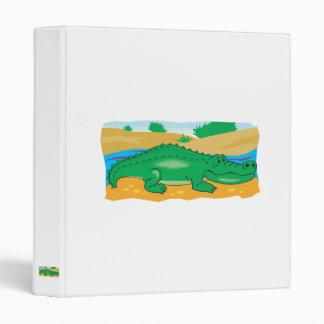cute little crocodile 3 ring binder