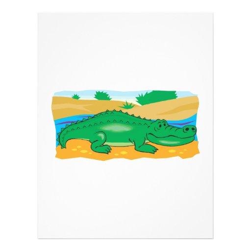cute little crocodile custom flyer