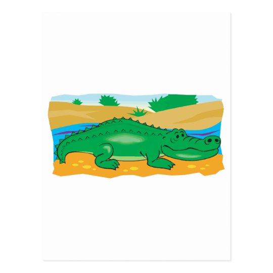cute little crocodile postcard