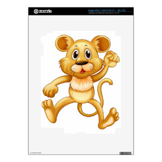 Cute little cub jumping decal for iPad 3