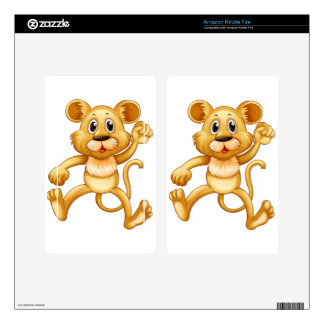 Cute little cub jumping decals for kindle fire