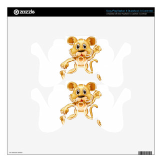 Cute little cub jumping PS3 controller decals